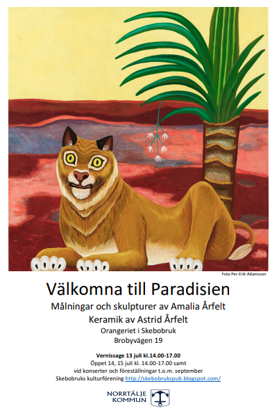 Affisch Paradisien vernissage